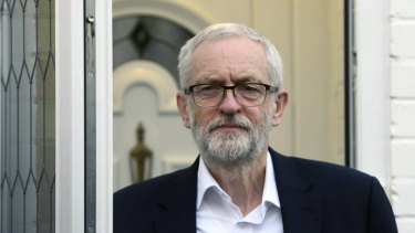 Jeremy Corbyn leaves his home in north London for talks with Theresa May.
