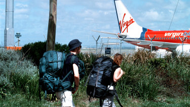 Backpackers face being stranded in Australia with no job and no welfare as airlines restrict flights.