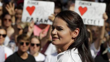 Opposition leader Sviatlana Tsikhanovskaya has fled the country.
