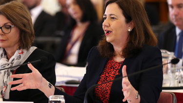 Annastacia Palaszczuk was asked whether she was aware that her chief of staff's company had been given the grant.