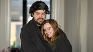 Brunswick couple Sian Brownlow and Alex Bowden have been getting plenty of sleep during the COVID-19 lockdown.