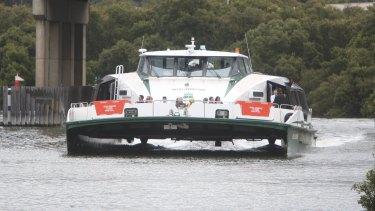 The RiverCat Nicole Livingstone plies the Parramatta River.