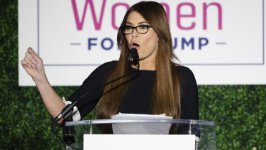 """Kimberly Guilfoyle, who is dating Donald Trump jnr, said Republicans will win because they're strong women who cling to their """"Bibles and guns""""."""