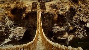 The Q'eswachaka bridge across the Apurimac in Peru.