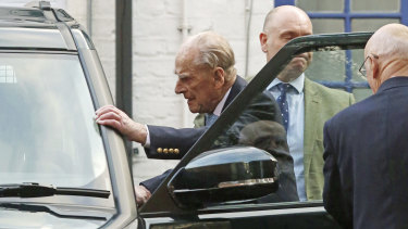 Prince Philip has left a London hospital after a four-day stay.
