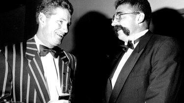 Dean Jones and Merv Hughes in 1994.
