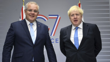 Prime Minister Scott Morrison has said publicly that he was asked to speak at the climate summit by British Prime Minister Boris Johnson.