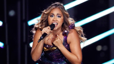 Jessica Mauboy during the Eurovision semi-finals.