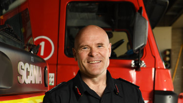 Outgoing Metropolitan Fire Brigade chief Dan Stephens, pictured last June after accepting the role.