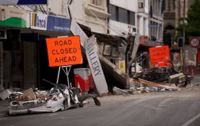 Destruction in central Christchurch after the earthquake that killed 185 people in February 2011. Michelle Tom structures her memoir using the stages used by seismologists.