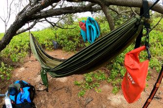 Kiss von Soly's campsite.