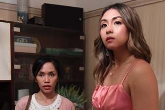 As well as the eye-popping real-estate, Aina Dumlao (left, with Susana Downes) was impressed with the input the Filipino actors had in shaping the script.