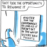Melissa Price was dumped as environment minister in last month's reshuffle. Illustration: Matt Golding