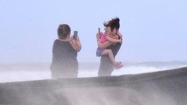 Wind was wreaking havoc on Gold Coast beaches on Friday.