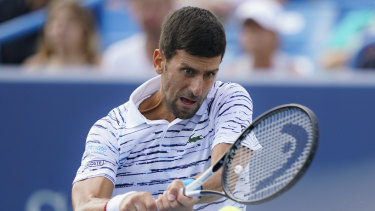 Upset loss: Novak Djokovic.