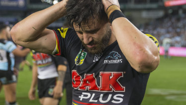 Paying the price: Josh Mansour won't play for the Panthers on Friday.
