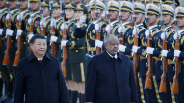 Chinese President Xi Jinping and Djibouti's President Ismail Omar struck a deal to establish China's first overseas naval base in Africa.