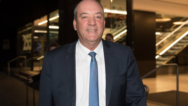 Liberal MP for Wagga Wagga Daryl Maguire outside ICAC.