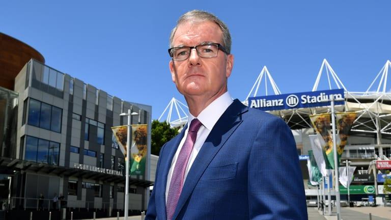 NSW Labor leader Michael Daley outside Allianz Stadium.
