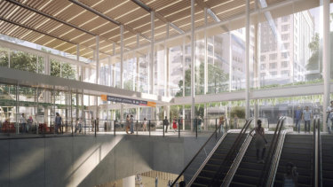 The new Roma Street station will be built where the existing Transit Centre stands.