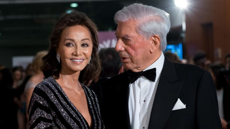 Vargas Llosa with his second wife, Isabel Preysler. The unexpected end of his first marriage strained many old friendships.