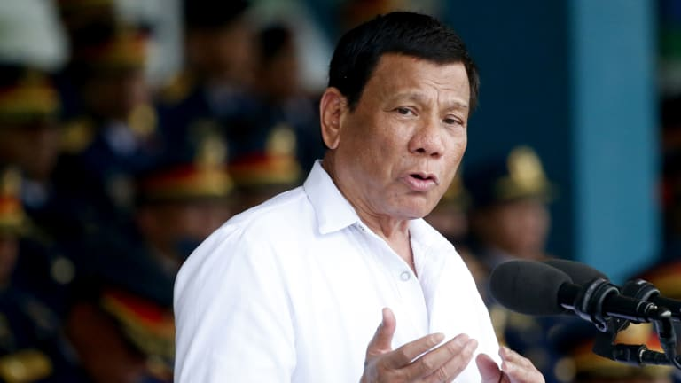 President Rodrigo Duterte in Quezon city last week.