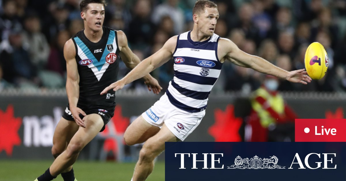 AFL finals as it happened: Port Adelaide vs Geelong Cats at Adelaide Oval – The Age