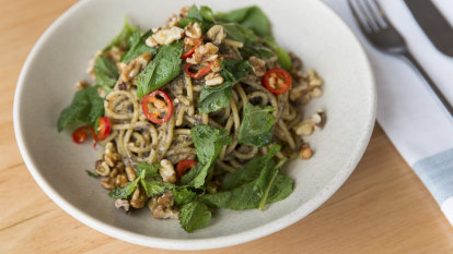 Don't like eggplant? This feisty spaghetti will convert you