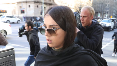 Jasmine Vella-Arpaci leaves the Melbourne Magistrate Court after being granted bail.
