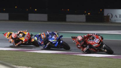 Dovizioso fends off Marquez on last corner to win MotoGP season-opener