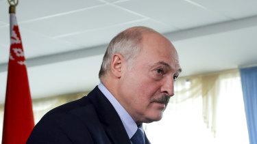 Under pressure after a disputed election: Belarusian leader Alexander Lukashenko.