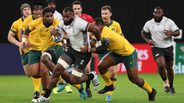 Tactical missteps? The Wallabies defended their choice to run the ball against Fiji in game one.