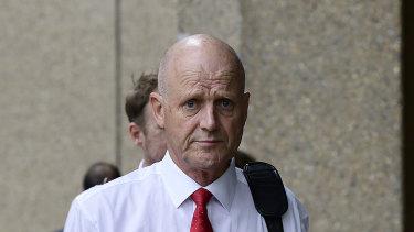 Former senator David Leyonhjelm outside court last year.