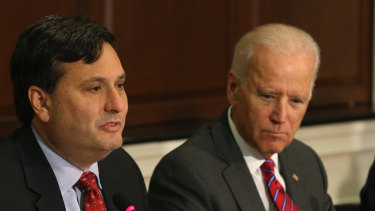 Joe Biden and Ron Klain, now named as his chief of staff, in 2014.