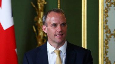 British Foreign Secretary Dominic Raab.