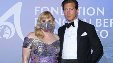 Rebel Wilson and Jacob Busch in Monaco in September.
