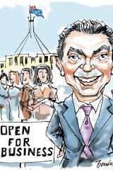 Christopher Pyne's presence is once again being felt in Canberra. Illustration: Joe Benke
