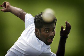 Muutiah Muralitharan took 800 Test wickets in a brilliant career.