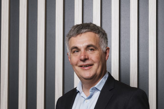 NBN Co chief executive Stephen Rue was pleased with the company's half year results, which included a $1.1 billion improvement in EBITDA after subscriber costs.
