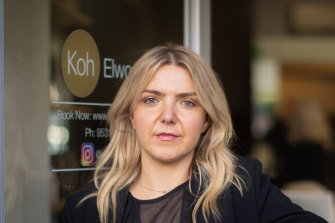Salon owner Mhairi McQueen said requiring maskless customers to produce medical certificates would make things easier for business owners.