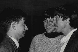 The editors of OZ, at the time of their trial in 1964. From left, Richard Walsh, Martin Sharp and Richard Neville.