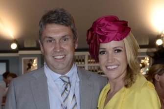 "David Gyngell and his ""life saver"", wife and journalist Leila McKinnon."