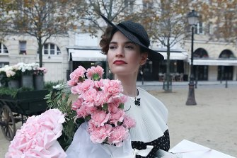 Shimmering beauty Linda Radlett (played by Lily James).