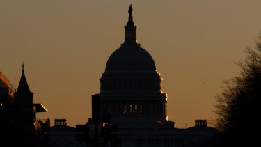The US Capitol Dome as the government goes through a partial shut-down.