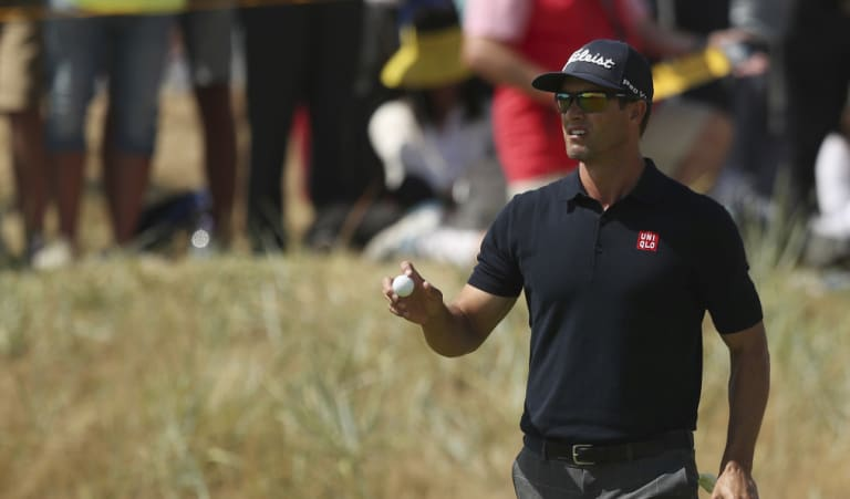Adam Scott during the British Open at Carnoustie, Scotland.