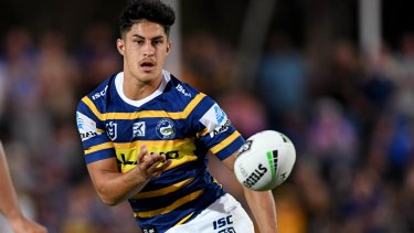 Sidelined: Parramatta playmaker Dylan Brown will return from injury against Canberra.