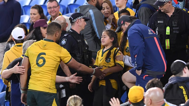 Unsavoury: Lukhan Tui consoles his sister after the incident.