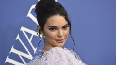 Kendall Jenner arrives at the CFDA Fashion Awards at the Brooklyn Museum on Monday, June 4, 2018, in New York.