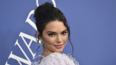 Kendall Jenner at New York's CFDA Fashion Awards in June.