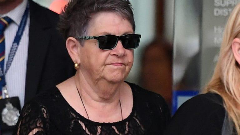 Barbara Merrigan, the mother of Shane Merrigan, leaves the Supreme Court.